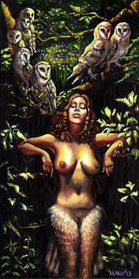 Painting - Lilith Under The Huluppu Tree by Mani Price