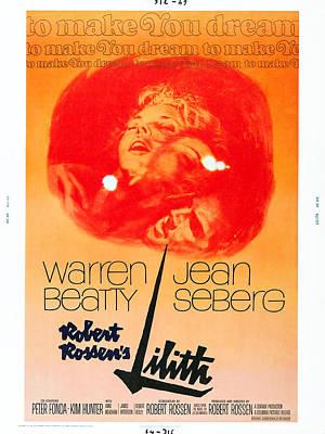Warren Beatty Photograph - Lilith, Us Poster, Jean Seberg Top by Everett