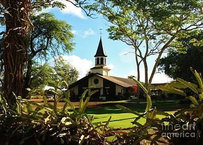 Lili Photograph - Liliuokalani Church - Haleiwa Hawaii by Craig Wood