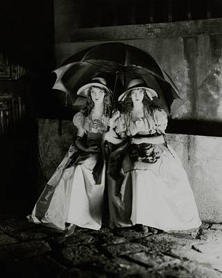 Photograph - Lillian And Dorothy Gish by James Abbe