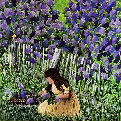 Lillian's Lilacs Art Print