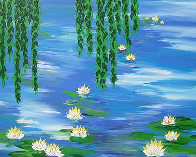 Lilly Pond Painting - Lillies 2 by Cathy Jacobs