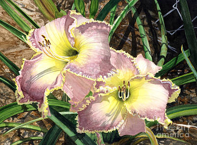 Painting - Lillies Clothed In Glory by Barbara Jewell