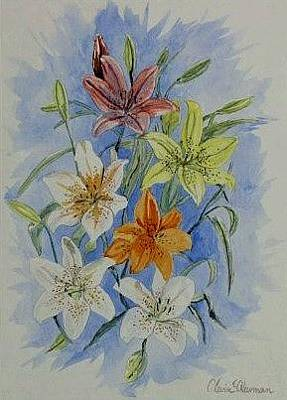 Painting - Lillies In The Primary by Kevin F Heuman