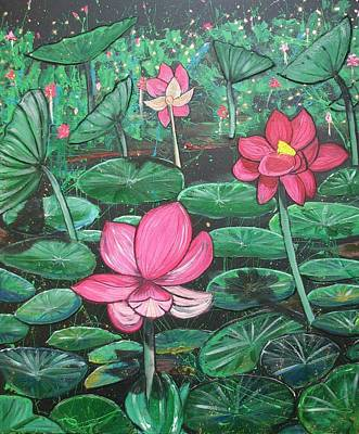 Painting - Lillies by Joan Stratton