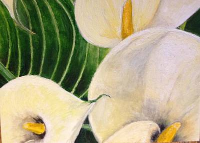 Painting - Lillies by John Schuller