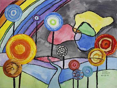 Lollipops And Rainbow  Art Print by Ethan Altshuler