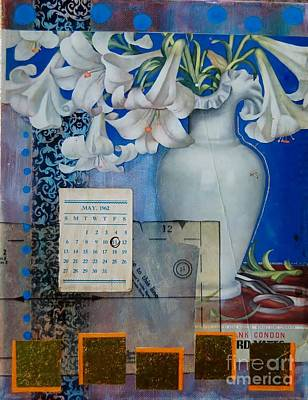Calendars Mixed Media - Lilly Blue by Brooke Adamson