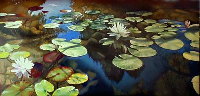 Lilly Pond Painting - Lilly In F Majore  by Paul Gilbert Baswell