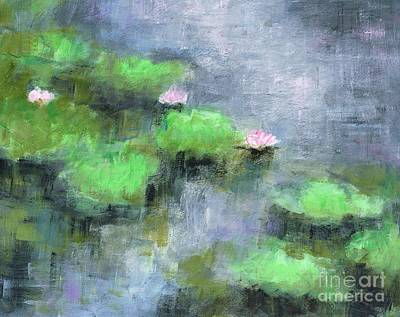 Lilly Pond Painting - Water Lilly's  by Frances Marino