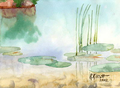 Lilly Pond Painting - Lilly Pads by John Herzog