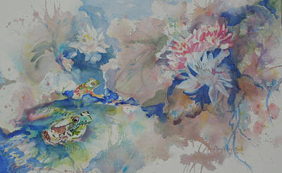 Painting - Lilly Pond by Mary Haley-Rocks