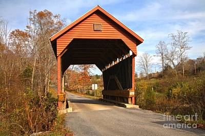 Photograph - Lillydale West Virginia Covered Bridge by Adam Jewell