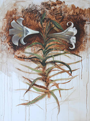 Art Print featuring the painting Lily by Alla Parsons