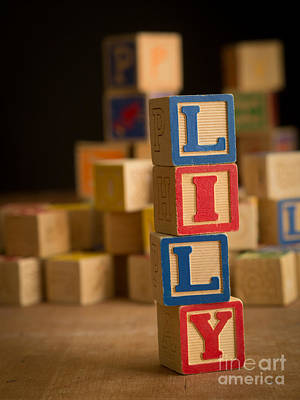 Lilies Royalty-Free and Rights-Managed Images - LILY - Alphabet Blocks by Edward Fielding