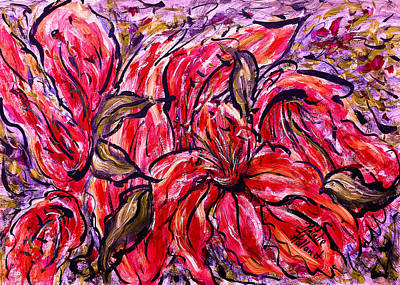 Lilium Painting - Lily Glow by Natalie Holland