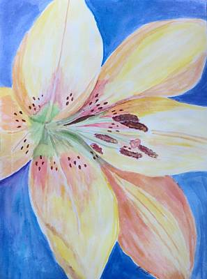 Lilium Painting - Lily In Blue by Sonali Gangane