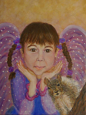 Painting - Lily Isabella Little Angel Of The Balance Between Giving And Receiving by The Art With A Heart By Charlotte Phillips