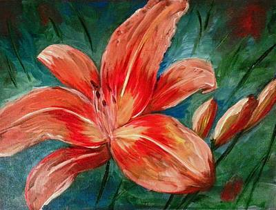 Painting - Lily by Jessica J Murray