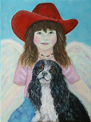 Painting - Lily Little Angel Of Self Empowerment by The Art With A Heart By Charlotte Phillips