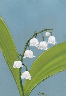 Lily Of The Valley Print by Anastasiya Malakhova