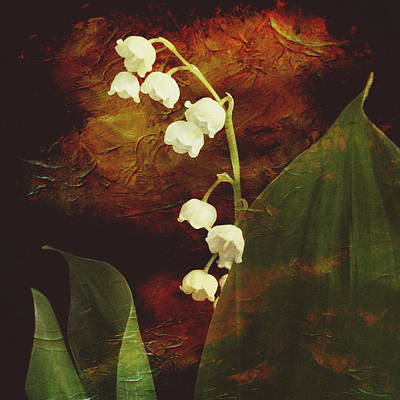 Lilies Mixed Media - Lily of the Valley by Patricia Januszkiewicz