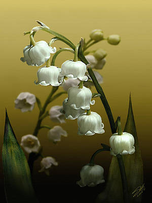 Digital Art - Lily Of The Valley by IM Spadecaller