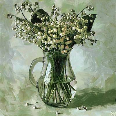 Flower Still Life Mixed Media - Lily Of The Valley by Vasiliy Agapov