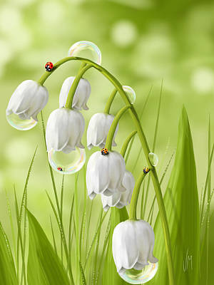Ladybug Painting - Lily Of The Valley by Veronica Minozzi