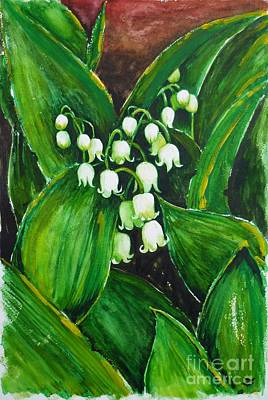 Selecting Painting - Lily Of The Valley by Zaira Dzhaubaeva