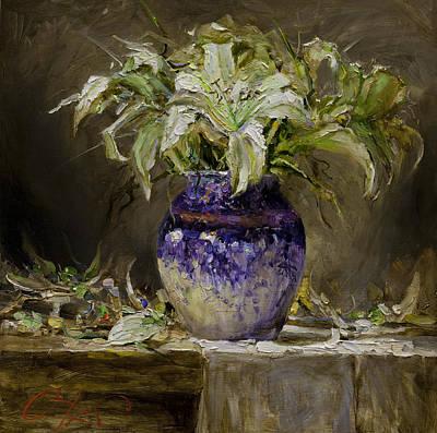 Lilium Painting - Lily by Oleg Trofimoff