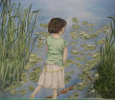 Painting - Lily Pad Dreams by Kelly Mills