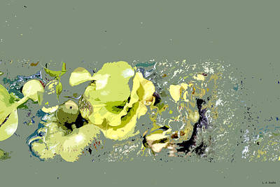 Art Print featuring the digital art Lily Pads - Deconstructed by Lauren Radke