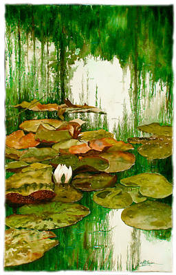 Reflections Among The Lily Pads Art Print