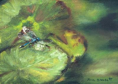 Outdoor Still Life Painting - Lily Pads by Lori Brackett