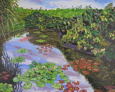 Queen Elizabeth Ii Painting - Lily Pond At Queen Elizabeth II Botanic Park by Dorothy Krajewski