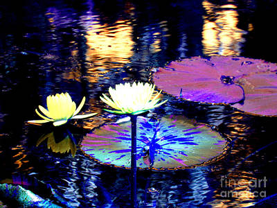Photograph - Lily Pond Fantasy by Anita Lewis