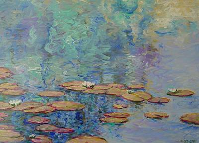 Painting - Lily Pond by J Michael Orr