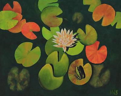 Painting - Lily Pond by Michael Saunders