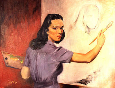 Lily Self Portrait 1940 Art Print by Art By Tolpo Collection