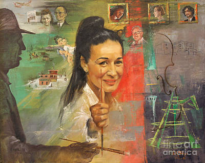 Painting - Lily Tolpo Biographical Portrait by Art By Tolpo Collection