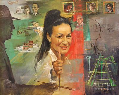 Lily Tolpo Biographical Portrait Art Print