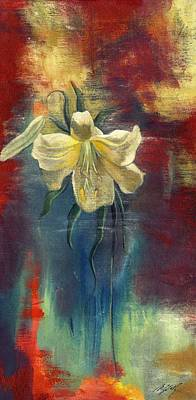 lily with Abstraction Print by Alfred Ng