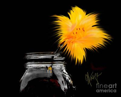 Lily Yellow Art Print