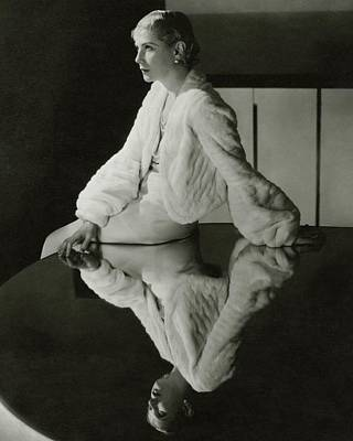 1930s Fashion Photograph - Lilyan Tashman Wearing A Bolero by Cecil Beaton
