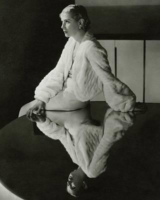Lilyan Tashman Wearing A Bolero Art Print by Cecil Beaton
