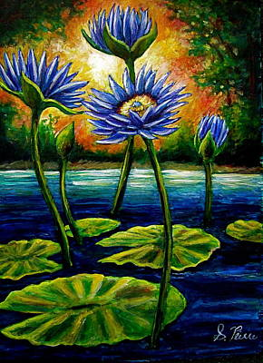 Painting - Lilys And Lotus by Sebastian Pierre