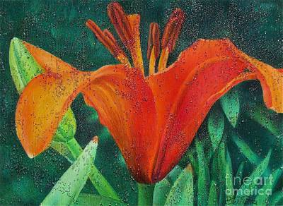 Painting - Lily's Jewels by Pamela Clements
