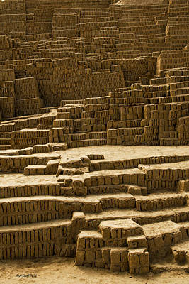 Photograph - Lima - Huaca Pucllana 1 by Allen Sheffield