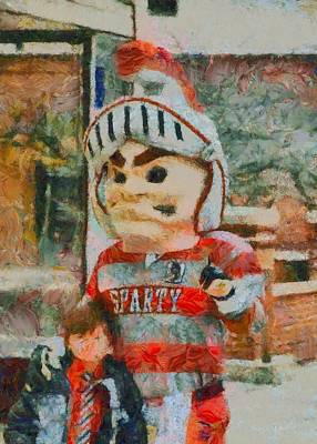Spartan Painting - Lima Senior Mascot by Dan Sproul
